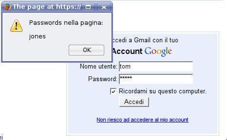 Mostrami la password