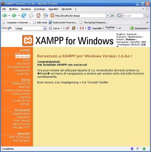 XAMPP Web Panel