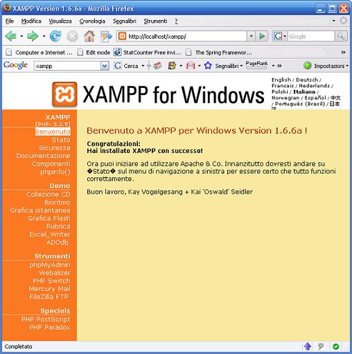 XAMPP Web Panel