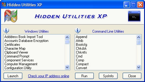 hidden utilities xp
