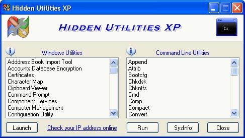 hidden utilities xp