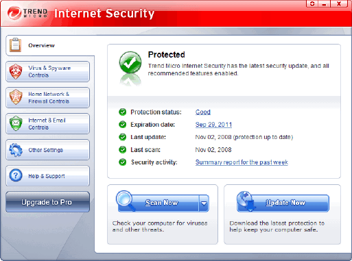 free trend micro internet security 2008
