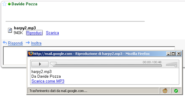 gmail audio player