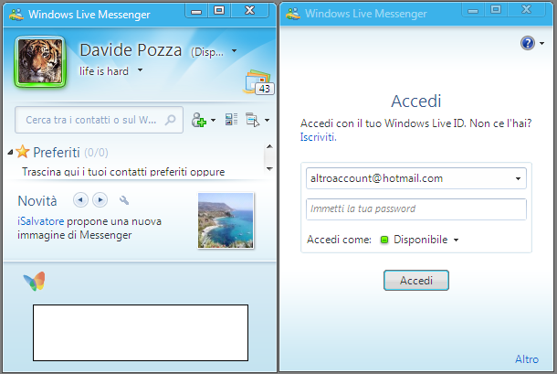 multi windows messenger live: