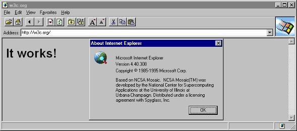 internet explorer 1 0