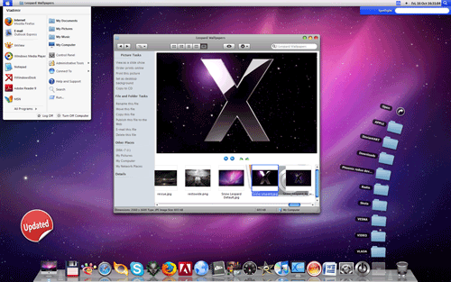 mac osx leopard x transformation pack