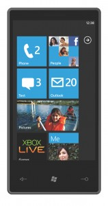 Windows Phone 7 startscreen 158x300